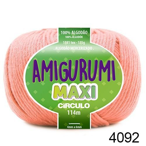 FIO AMIGURUMI MAXI 135 GR 114 MTS COR 4092