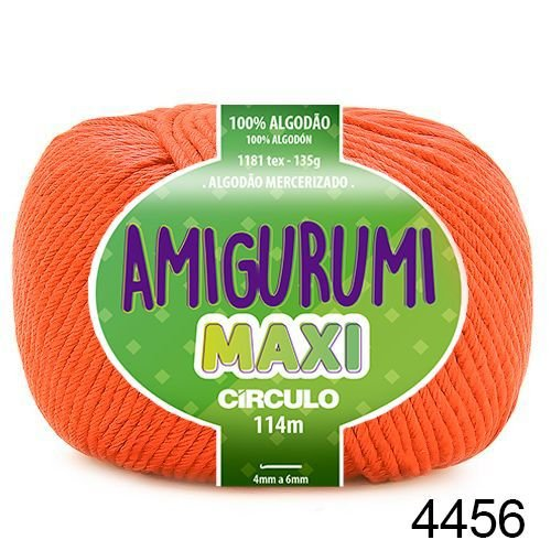 FIO AMIGURUMI MAXI 135 GR 114 MTS COR 4456 LARANJA