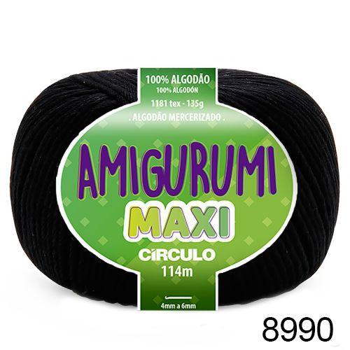 FIO AMIGURUMI MAXI 135 GR 114 MTS COR 8990 PRETO