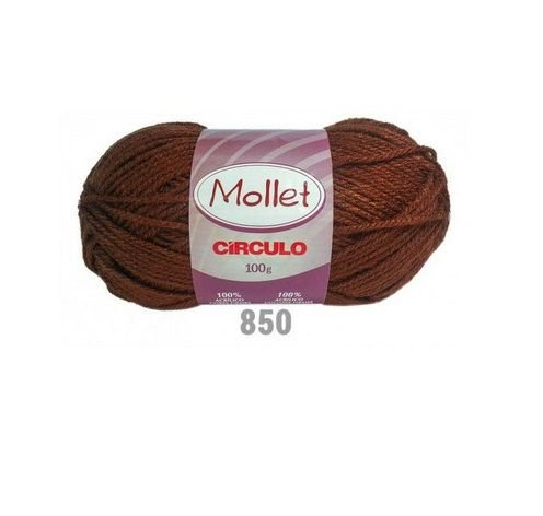 FIO MOLLET CIRCULO COR 0850 CASTANHO 100 GR