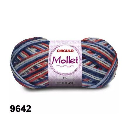 FIO MOLLET CIRCULO COR 9642 100 G