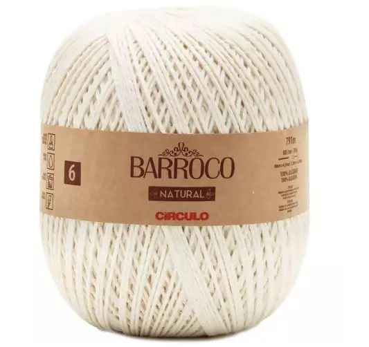 BARBANTE BARROCO N6 NATURAL COR 0020 COM 791 MTS