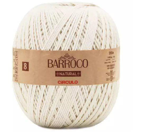 BARBANTE BARROCO N8 NATURAL COR 0020 593 mts