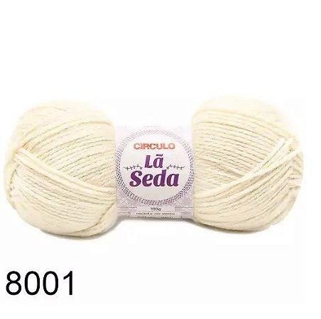 LÃ SEDA CIRCULO COR 8001 BRANCO 100 G