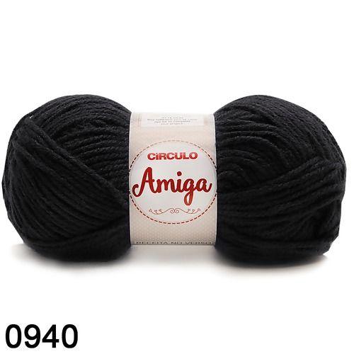 FIO AMIGA 100 GR COR 0940 PRETO