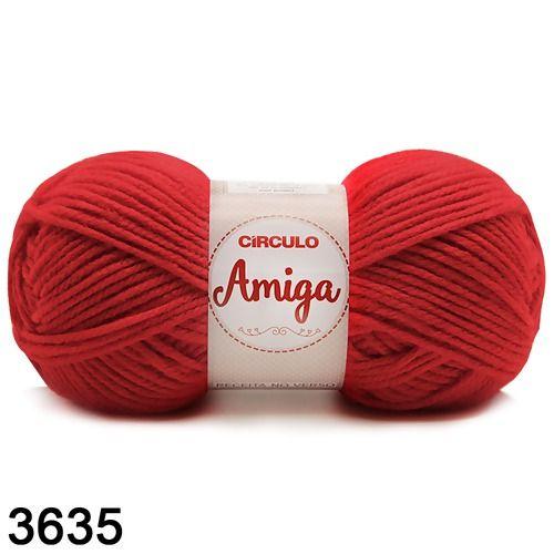 FIO AMIGA 100 GR COR 3635 VERMELHO PAIXAO