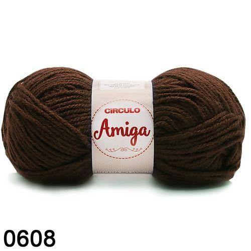 FIO AMIGA 100 GR COR 608 MARROM CHOCOLATE