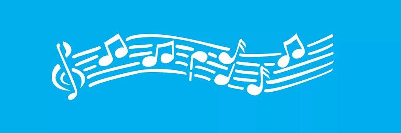 ESTENCIL 10X30 NOTAS MUSICAIS OPA 040