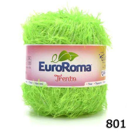 EUROROMA TRENTO 200 GR FIO 6 COR 801 VERDE LIMAO
