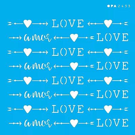 ESTENCIL 14X14 ESTAMPARIA LOVE OPA2433