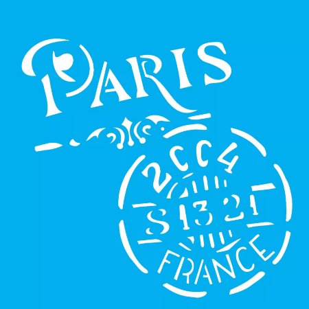 ESTENCIL 14X14 SELO PARIS OPA1742