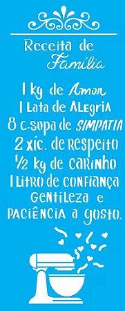 ESTENCIL 17X42 RECEITA DE FAMILIA OPA2178