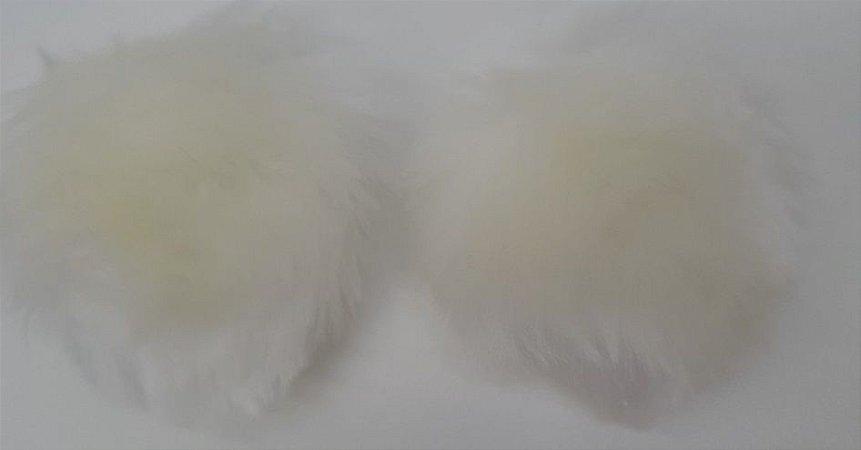 POMPOM PELO BAIXO SEM ALCA REF 4432/1 2 UNID COR OFF WHITE