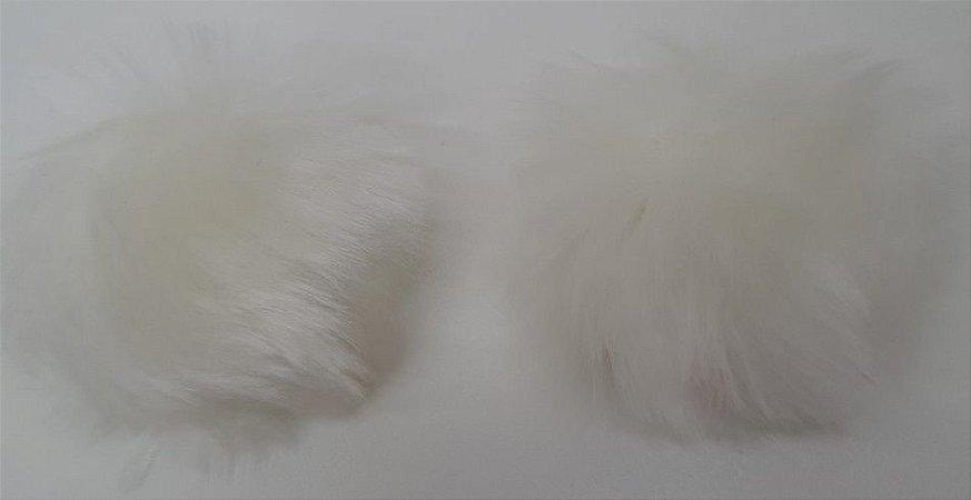 POMPOM PELO BAIXO SEM ALCA REF 4431/1 2 UNID COR OFF WHITE