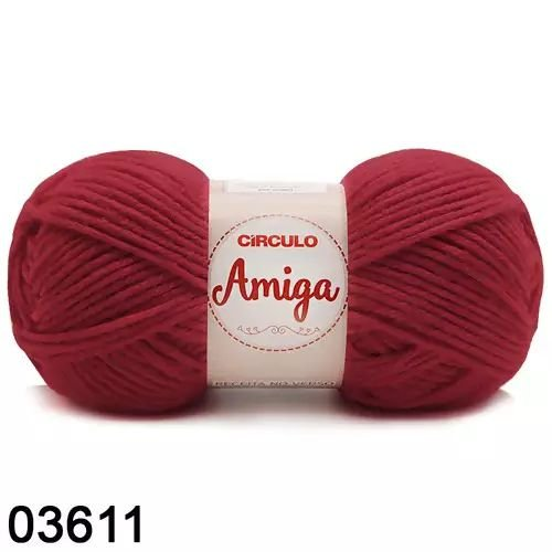 FIO AMIGA 100 GR COR 3611 RUBI
