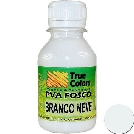 Tinta PVA Fosca True colors Branco neve 100 ml
