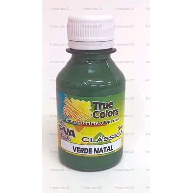 Tinta PVA Fosca True Colors Verde Natal 100 ml