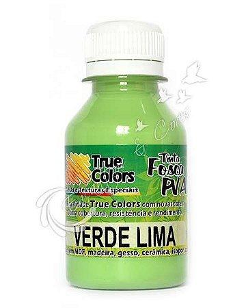 Tinta PVA Fosca True Colors Verde Lima 100 ml