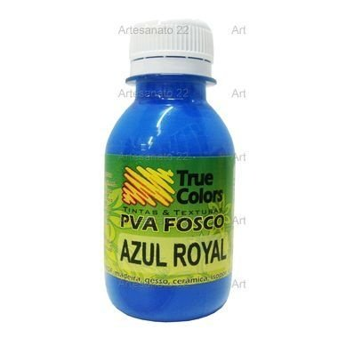 Tinta PVA Fosca True Colors Azul Royal 100 ml