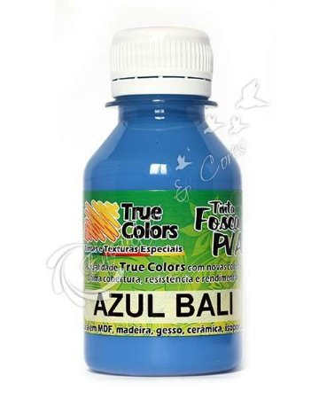 Tinta PVA Fosca True Colors Azul Bali 100 ml