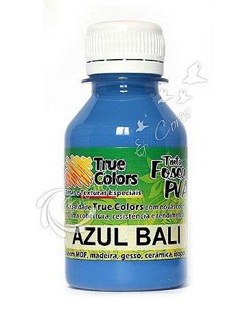 Tinta PVA Fosca True Colors Azul Bali 100 ml
