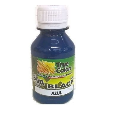 Tinta PVA Fosca True Colors Black Azul 100 ml