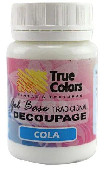 GEL BASE TRUE COLORS TRADICIONAL COLA DECOUPAGEM 80 ML