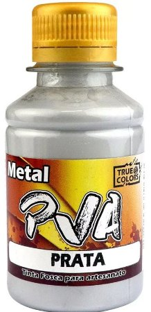 TINTA PVA METAL TRUE COLORS PRATA 100 ML
