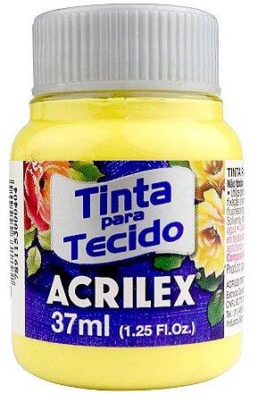 TINTA PARA TECIDO ACRILEX AMARELO CANARIO 37 ML