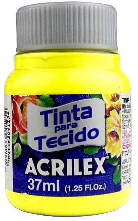 TINTA PARA TECIDO ACRILEX AMARELO LIMAO 37 ML