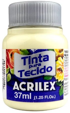 TINTA PARA TECIDO ACRILEX MARFIM 37 ML