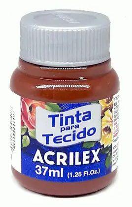 TINTA PARA TECIDO ACRILEX MARROM 37 ML