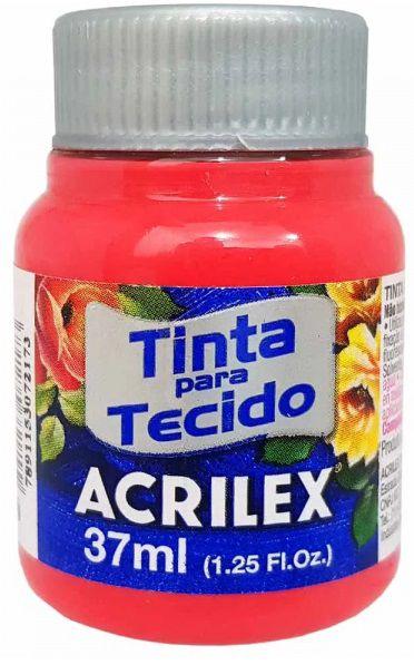 TINTA PARA TECIDO ACRILEX VERMELHO BEBE 37 ML