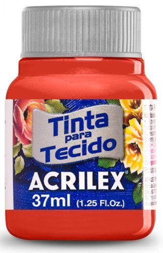 TINTA PARA TECIDO ACRILEX VERMELHO ESCARLATE 37 ML