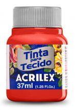 TINTA PARA TECIDO ACRILEX VERMELHO NATAL 37 ML