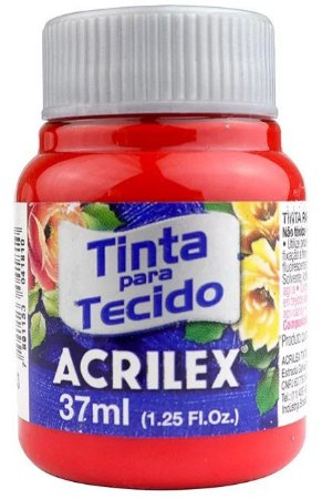 TINTA PARA TECIDO ACRILEX VERMELHO TOMATE 37 ML