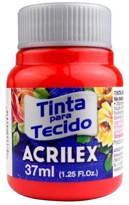 TINTA PARA TECIDO ACRILEX VERMELHO VIVO 37 ML