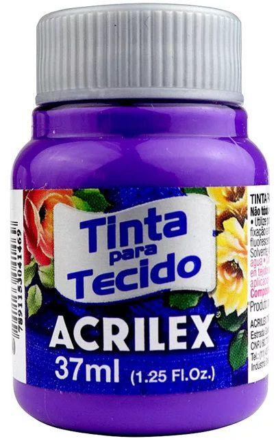 TINTA PARA TECIDO ACRILEX VIOLETA COBALTO 37 ML