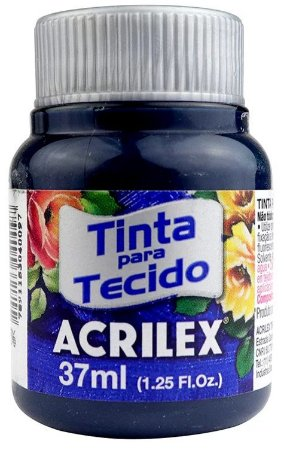 TINTA PARA TECIDO ACRILEX AZUL PETROLEO 37 ML