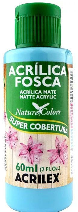 TINTA ACRILICA FOSCA ACQUA MARINA NAT. COLORS 60 ML ACRILEX