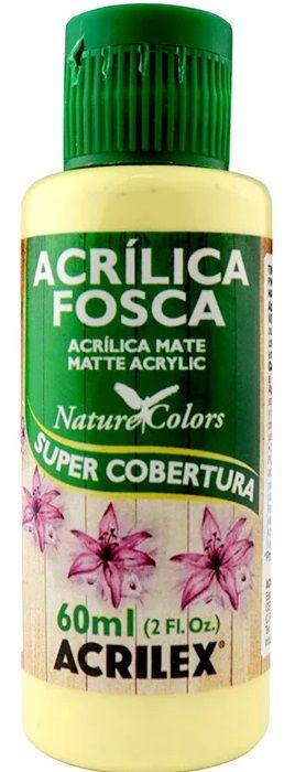 TINTA ACRILICA FOSCA AMARELO BEBE NAT. COLORS 60 ML ACRILEX