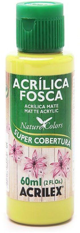 TINTA ACRILICA FOSCA AMARELO LIMÃO NAT. COLORS 60 ML ACRILEX