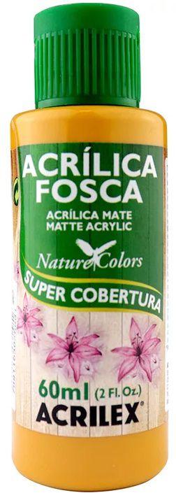 TINTA ACRILICA FOSCA AMARELO OCRE NAT. COLORS 60 ML ACRILEX