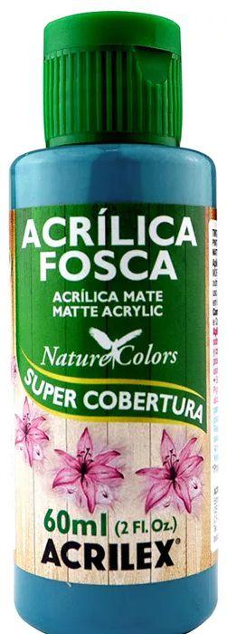 TINTA ACRILICA FOSCA AZUL PISCINA NAT. COLORS 60 ML ACRILEX