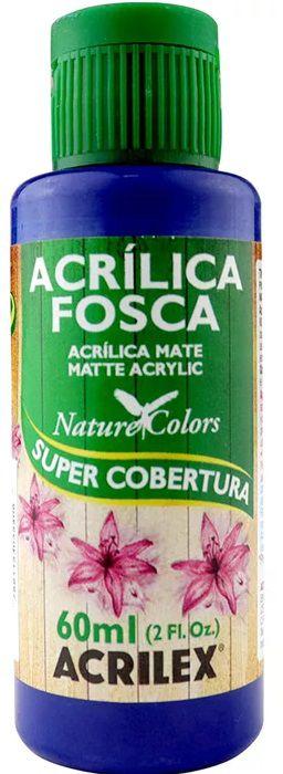TINTA ACRILICA FOSCA AZUL TURQUESA NAT. COLORS 60 ML ACRILEX
