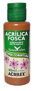 TINTA ACRILICA FOSCA MARROM ESCURO NAT. COLORS 60 ML ACRILEX