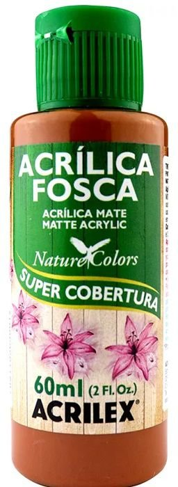 TINTA ACRILICA FOSCA MARROM NAT. COLORS 60 ML ACRILEX