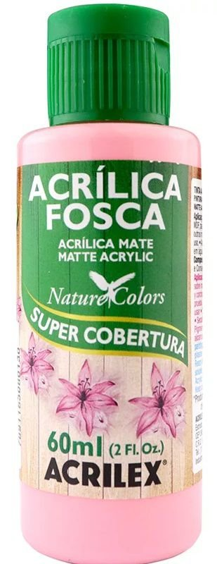 TINTA ACRILICA FOSCA ROSA NAT. COLORS 60 ML ACRILEX