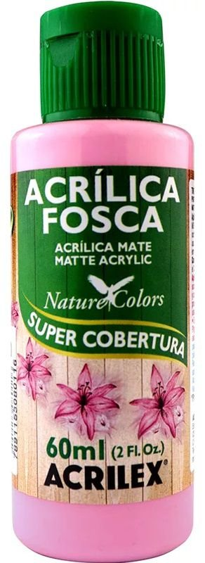 TINTA ACRILICA FOSCA ROSA PRIMAVER NAT. COLORS 60 ML ACRILEX