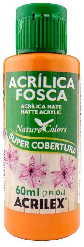 TINTA ACRILICA FOSCA TANGERINA NAT. COLORS 60 ML ACRILEX